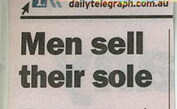 Men Sell Their Sole
