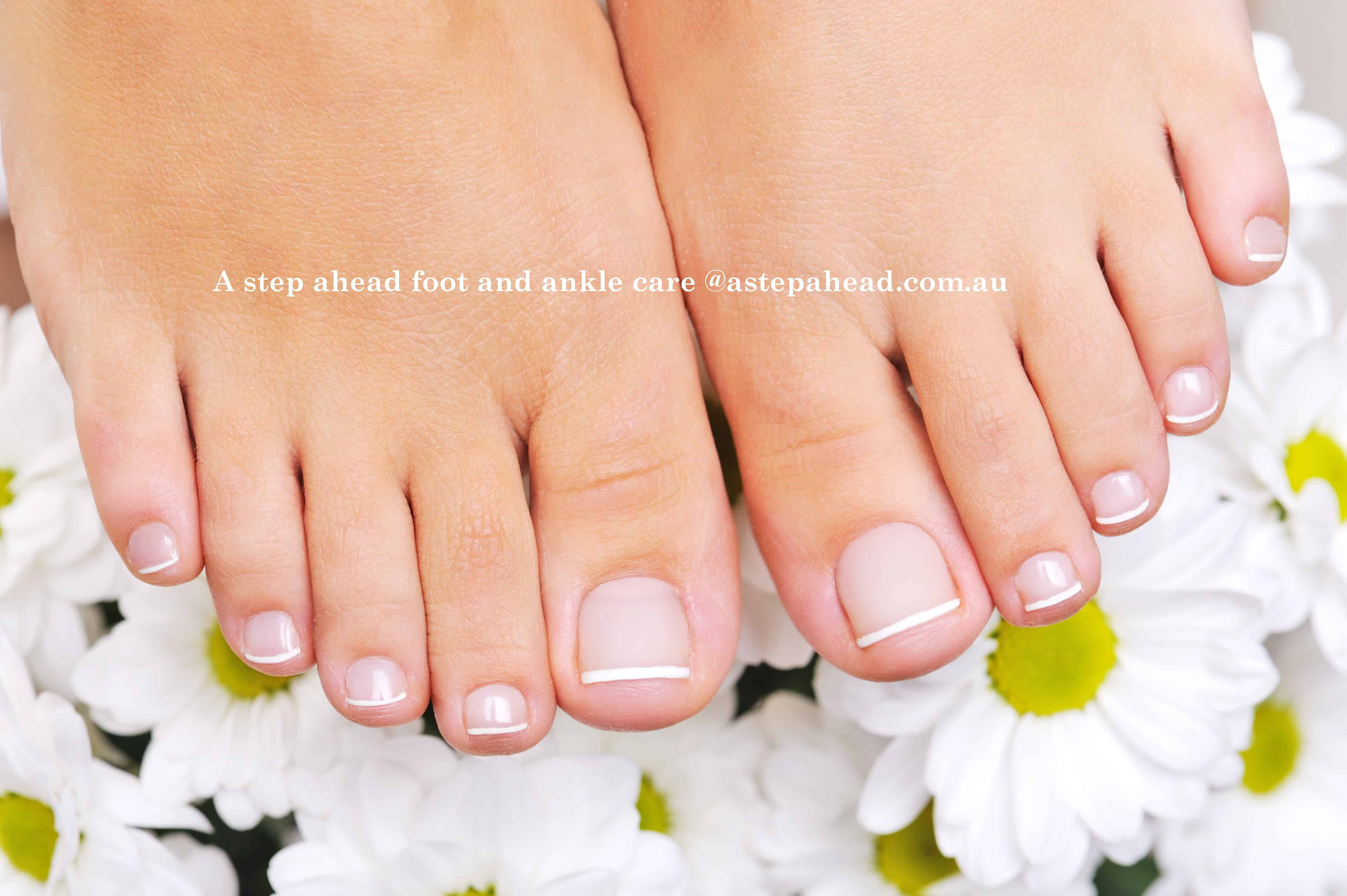 Healthy attractive toenails