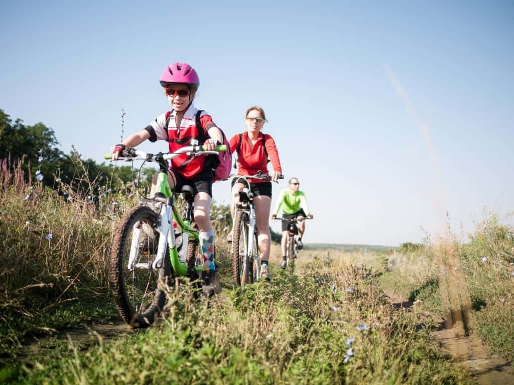 kids riding bikes, active kids