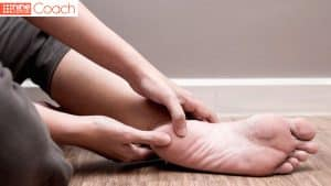 heel pain, holding sore heel