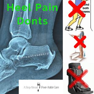 Heel Pain Don'ts